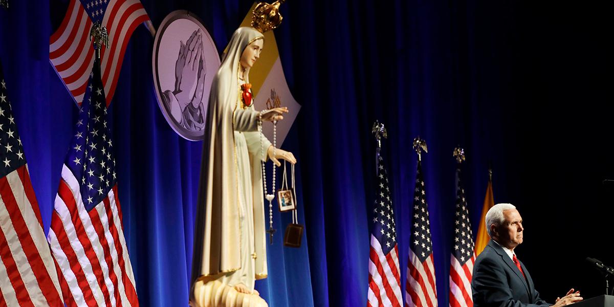NATIONAL CATHOLIC PRAYER BREAKFAST,PENCE,FATIMA