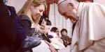 POPE FRANCIS BLESSES PREGNANT WOMAN
