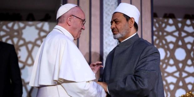 POPE FRANCIS,SHEIKH AHMED A TAYEB