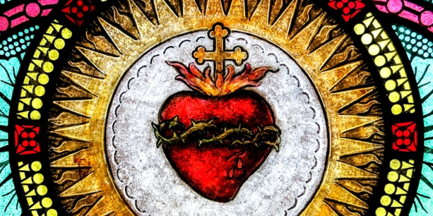 SACRED HEART OF JESUS,STAINGLASS