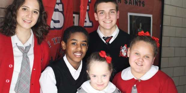 STUDENTS AT IMMACULATA CLASSICAL ACADEMY