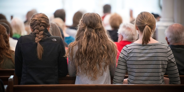 YOUNG WOMEN AT MASS