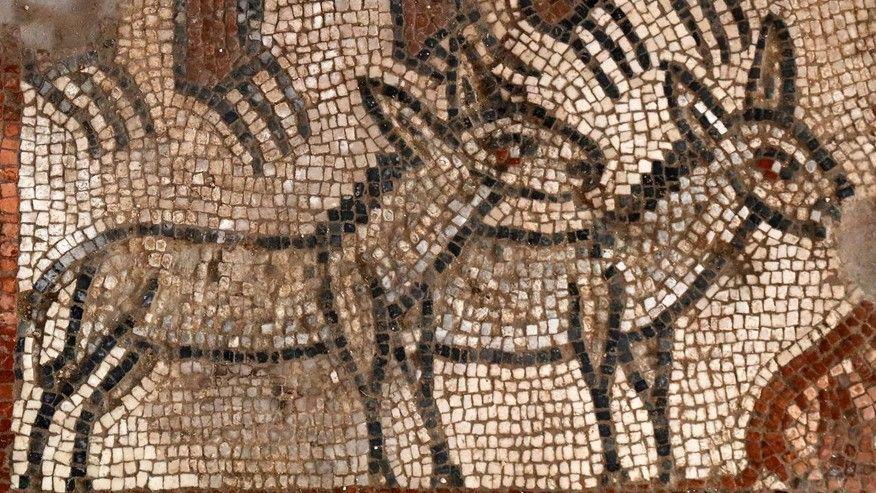 ANCIENT MOSAIC,ISRAEL