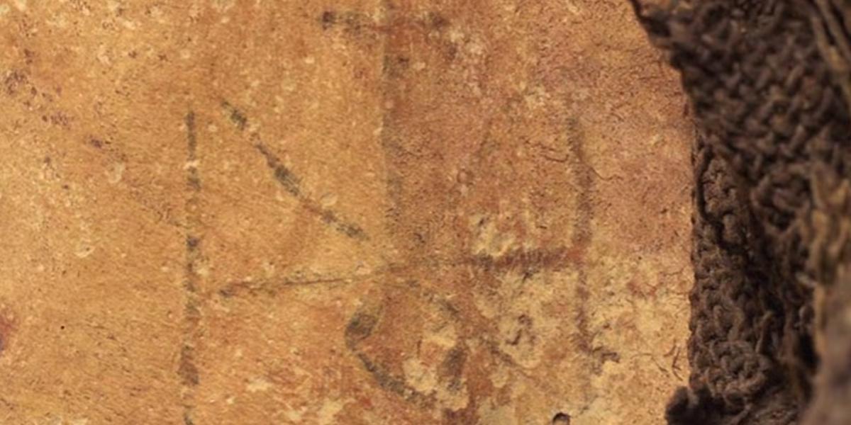 1300 YEAR OLD MUMMY,TATTOO,CLOSEUP