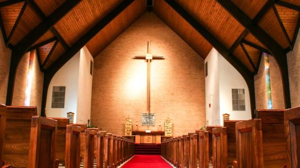 INTERIOR CHURCH,PEWS
