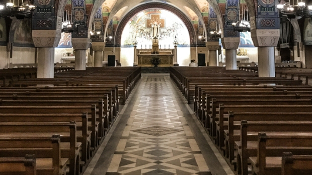 ST THERESE CATHEDRAL,CHURCH PEWS
