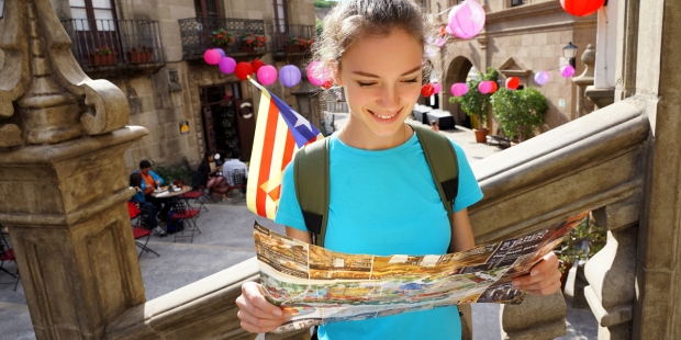 YOUNG ADULT,TRAVEL,SPAIN,MAP