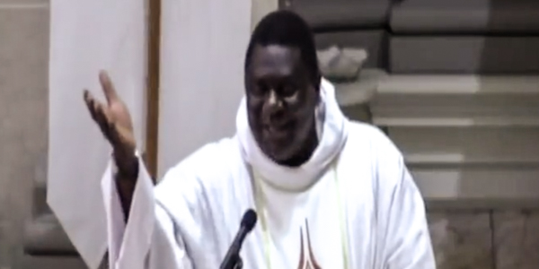 FR PIUS DURING HOMILY