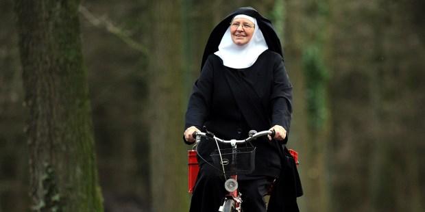 NUN,SISTER,BICYCLE