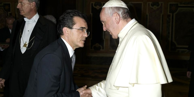 ALFREDO LUIS SOMOZA,POPE FRANCIS