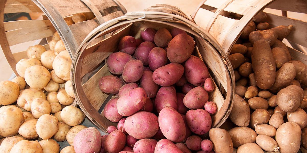 Potatoes in Baskets
