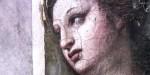 PAINTING OF WOMANS FACE,RAPHEL