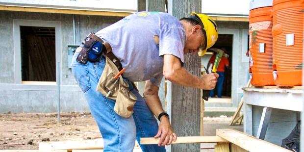 MAN WORKING,HARD HAT