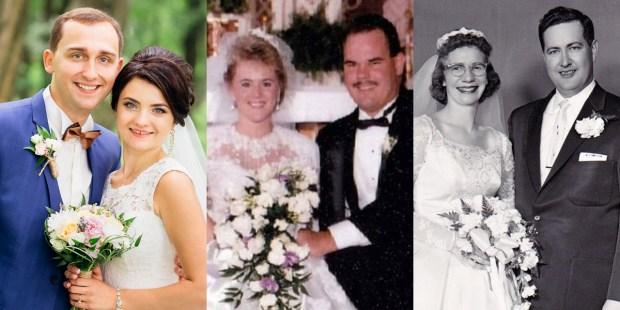 WEDDING PHOTOS,1960,1990,2017