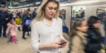 Woman in Subway Platform