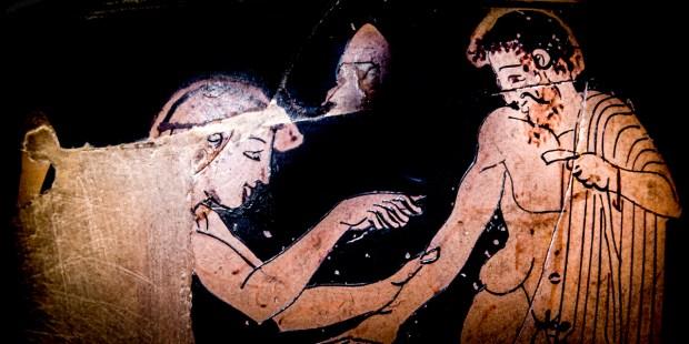ANCIENT GREECE DOCTOR,VASE