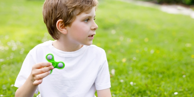 Boy with Fidget Spinner