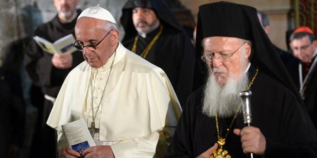 PATRIARCH BARTHOLEMEW,POPE FRANCIS