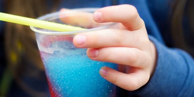 Child with Slush Drink