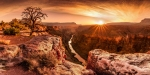 GRAND CANYON,SUNSET,NATURE,NATURAL WONDERS