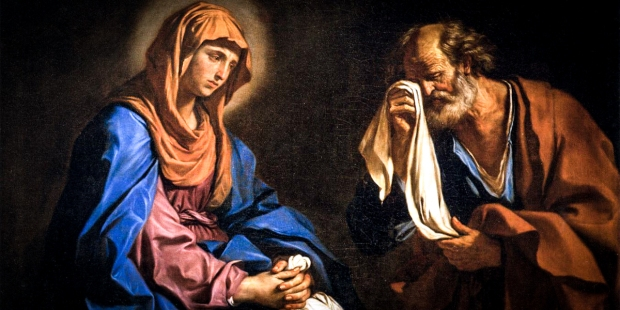 SAINT PETER WITH MARY