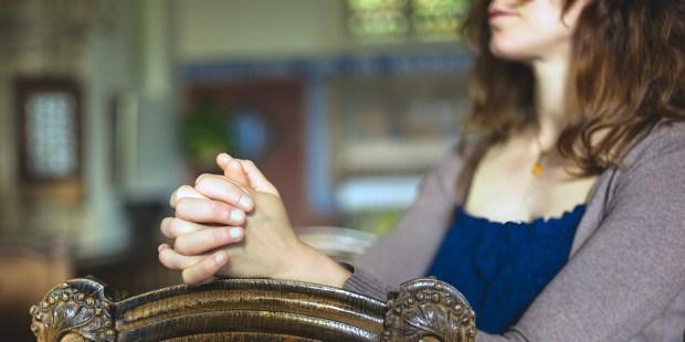 Young Woman at Church