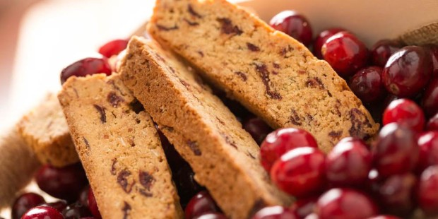 MONKS CRANBERRY ORANGE BISCOTTI