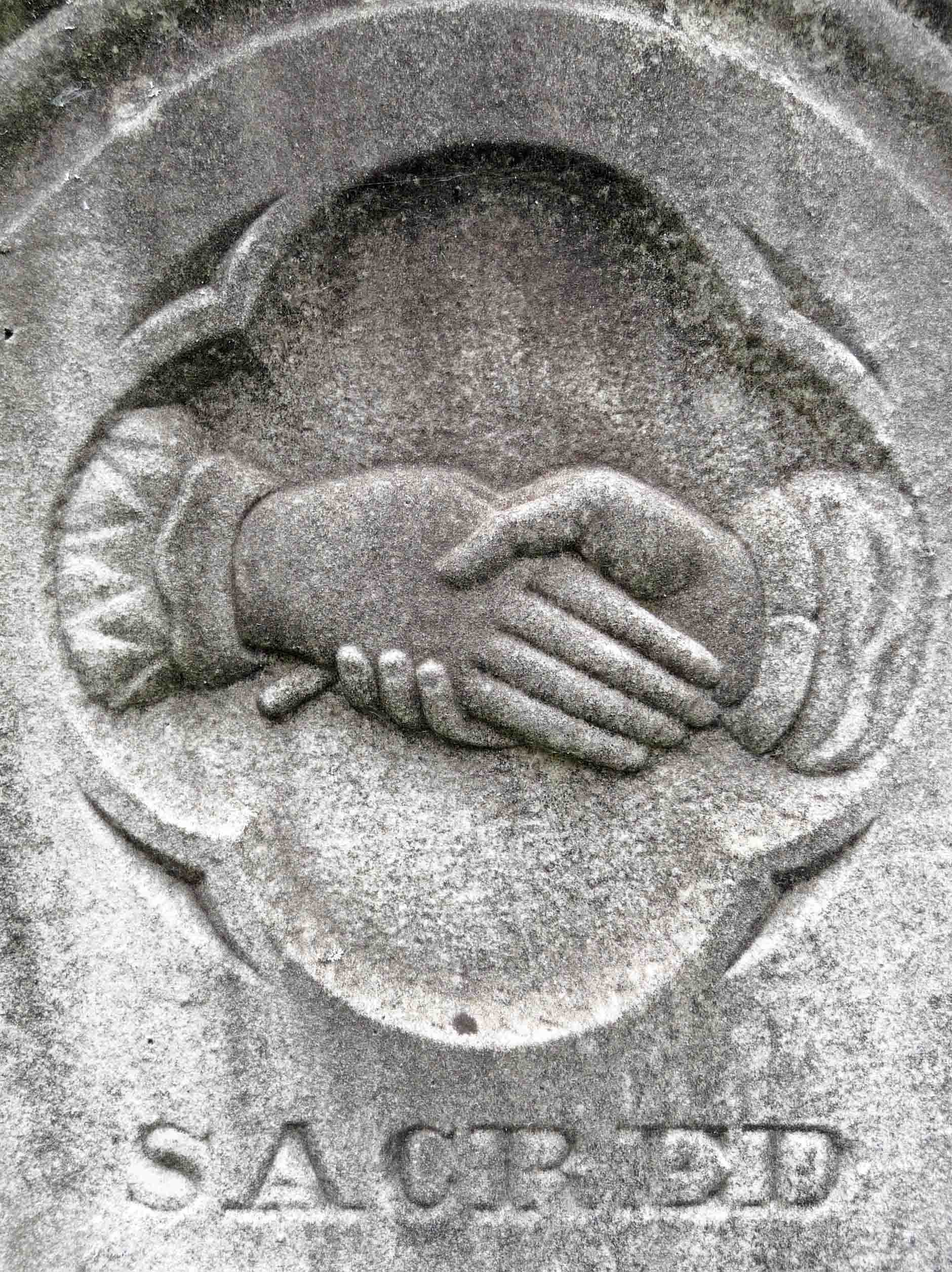 CLASPED HANDS,GRAVE