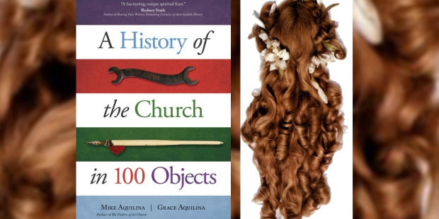 A HISTORY OF THE CHURCH IN 100 ITEMS,ST THERESE OF LISIEUX HAIR CURLS