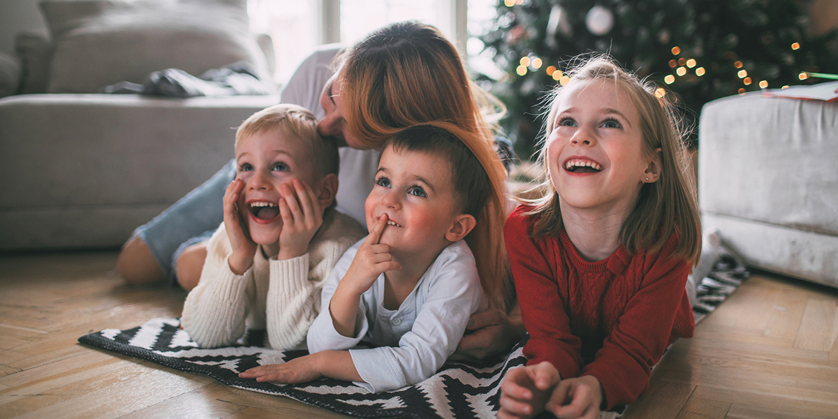 Mother and Children Christmas
