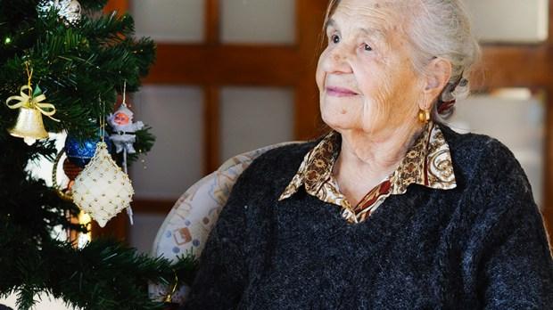 Senior Woman on Christmas
