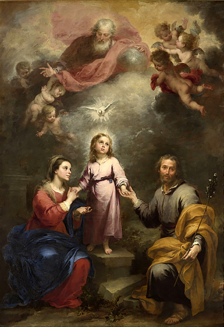 Holy Family with the Holy Spirit, Murillo, 1675-1682.