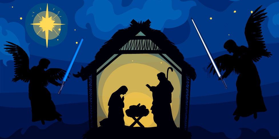 NATIVITY,LIGHT SABERS