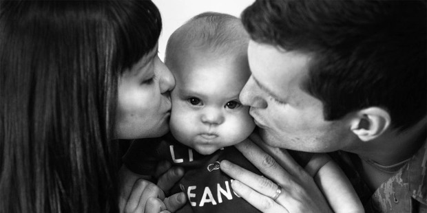 DOWN SYNDROME BABY WITH PARENTS