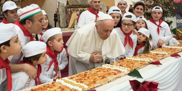 POPE FRANCIS,BIRTHDAY,PIZZA