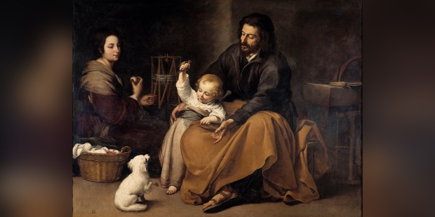 THE HOLY FAMILY WITH A BIRD