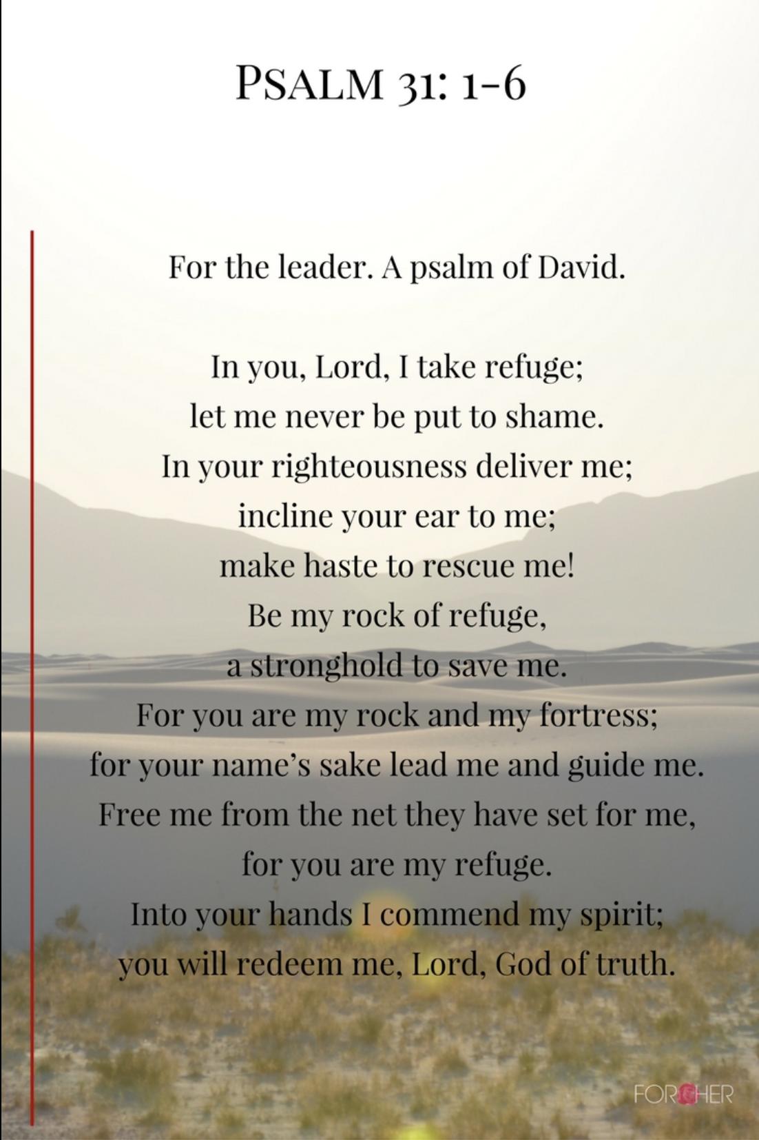 PSALM 31 1-6