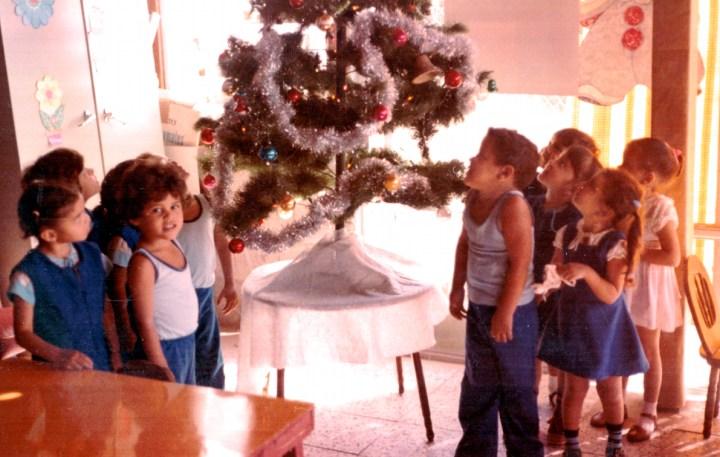 Children Decorating Tree