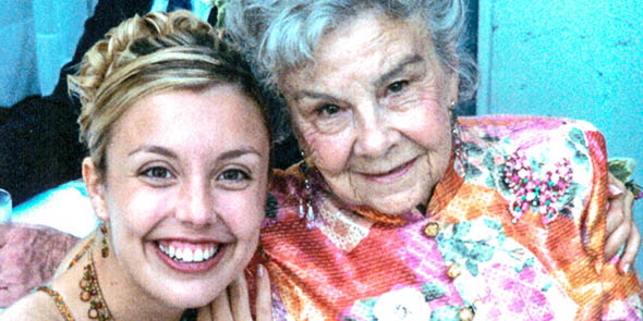ANNABELLE BLACK WITH HER GRANDDAUGHTER