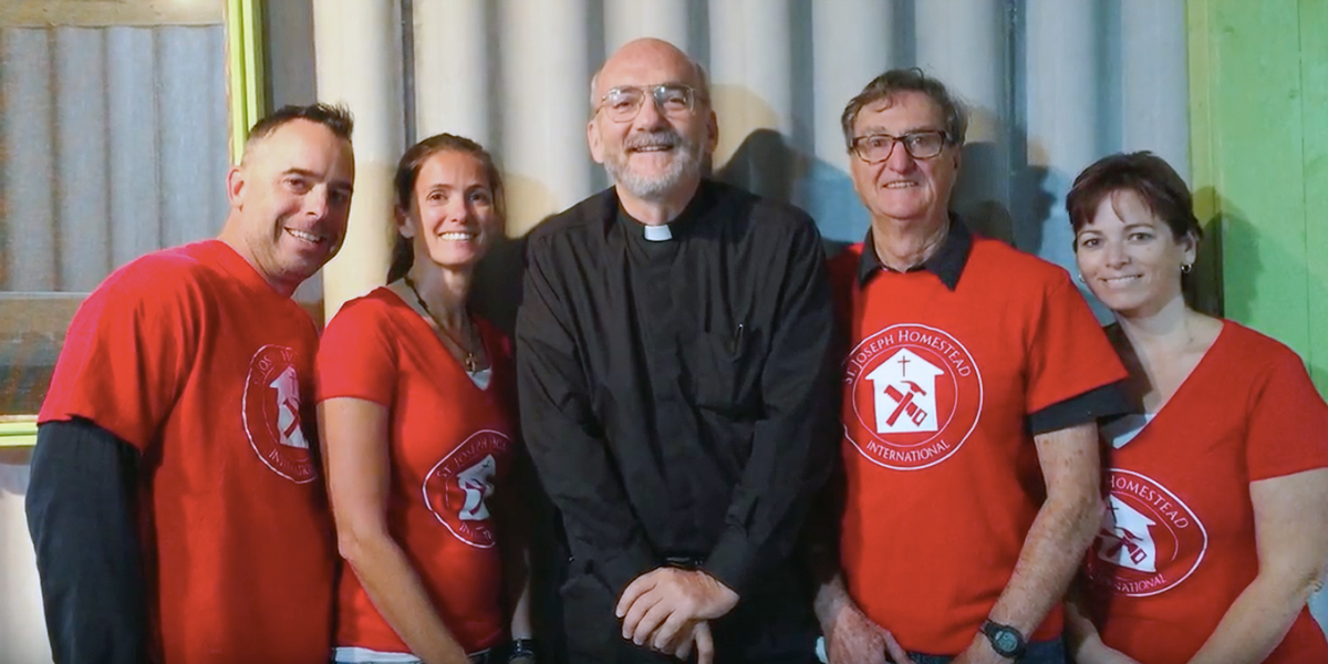 Father Ryan and Volunteers