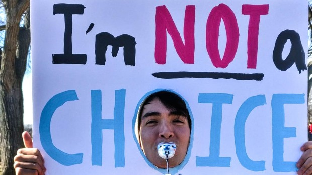 MARCH FOR LIFE SIGN