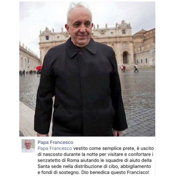 Papa Francisco fake news