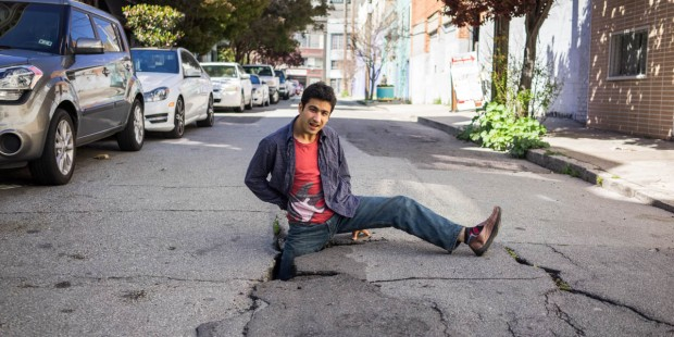 MAN FELL IN STREET HOLE
