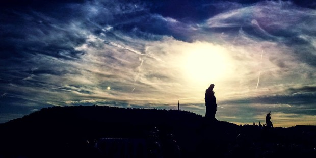 JESUS STATUE ON A HILL
