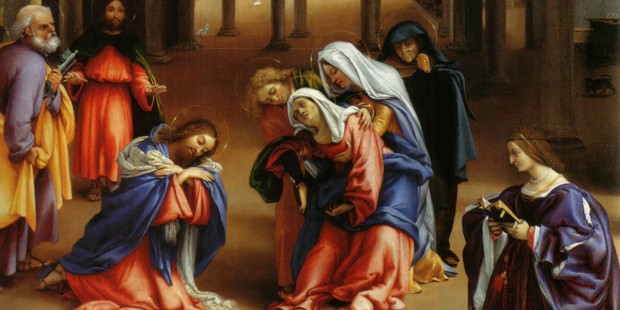 JESUS LEAVING MARY