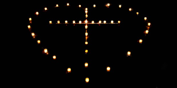 HEART,CROSS,CANDLES