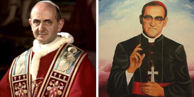 Papa Paulo VI e Dom Oscar Romero