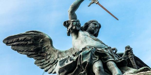 Bronze statue of Archangel Michael