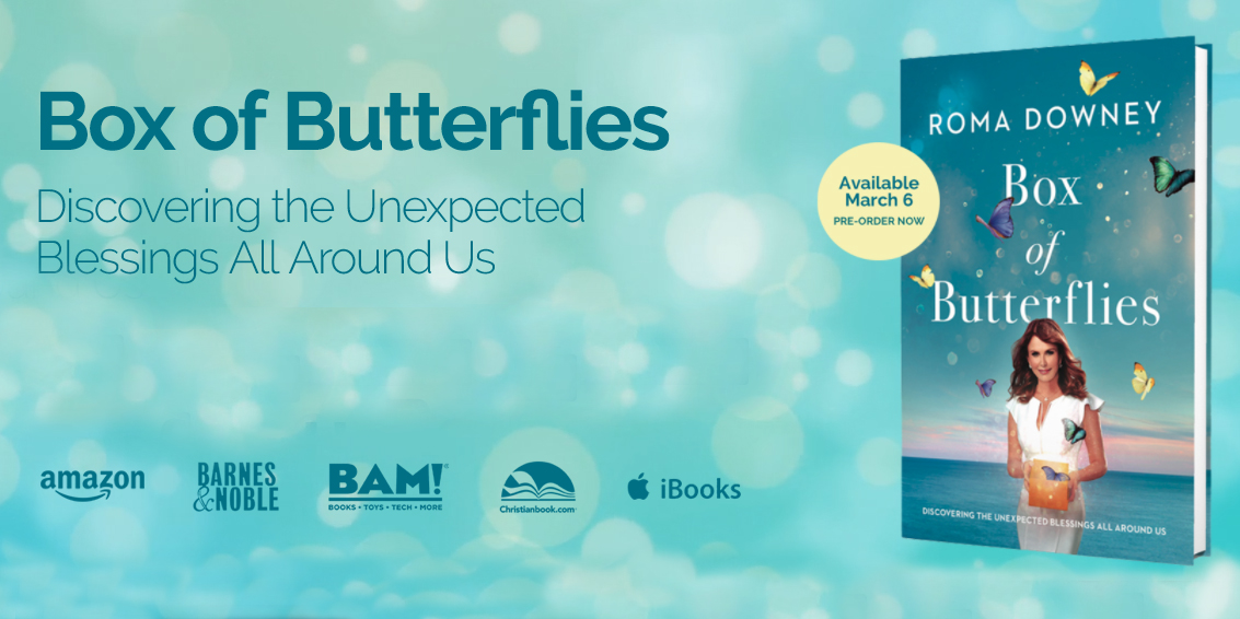 ROMA DOWNEY,BOX OF BUTTERFLIES