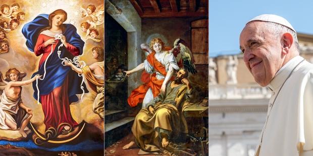MARY, UNTIER OF KNOTS SAINT JOSEPH'S DREAM POPE FRANCIS